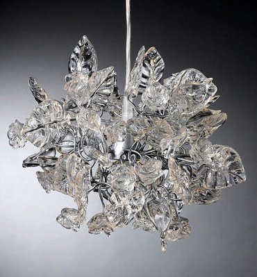 Pendant lamps – Transparent Floral Lampshades – Hanging Decorations – Chandelier -Home Decor Kitchen & Dining room lighting