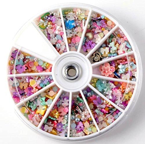 1200-Pcs Charming Popular Nail Art Wheel Slice Glitters Fashion Tips Manicure Accessory Primer DIY Multi-Color Mixed - Gabbana And Dulce