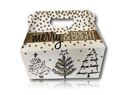 Limited Edition Christmas Holiday Gift Package by AtHomePlus (34 Count) --Perfect Present for Family, Friends, or Office!! (Golden Holiday Trees) (Sick Care Package Ideas)