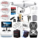 DJI Phantom 4 ADVANCED PLUS (ADVANCED+) Drone Quadcopter (Remote W/ Integrated Touch Screen Display) Bundle Kit with 3 Batteries, 4K Professional Camera Gimbal and MUST HAVE Accessories