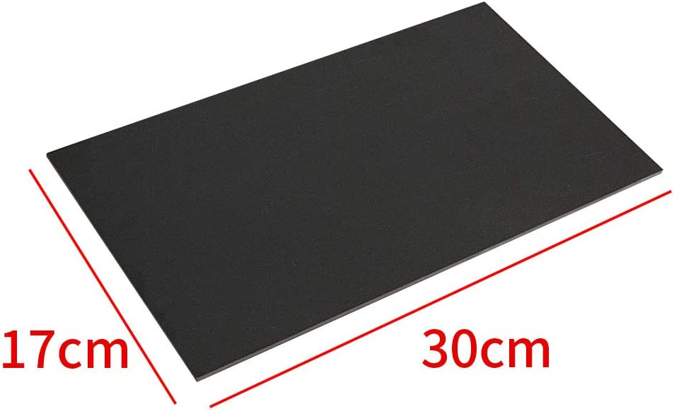 VICV2RO Glassfibre Board Durable Laminate Fibreglass Plate Craft Supplies Black Template School Single Side DIY Portable Sheet Epoxy Glass Home
