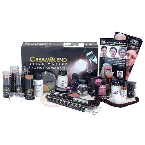 Mehron Makeup Creamblend All-Pro Student Makeup Kit (Dark) (Best Special Fx Makeup Schools)
