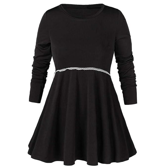 super popular 3bbf5 2fef3 Likecrazy Mode Kleid Mode Frauen Solide Langarm ...