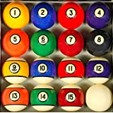 Iszy Billiards Pool Table Billiard Ball Set, Antique Style
