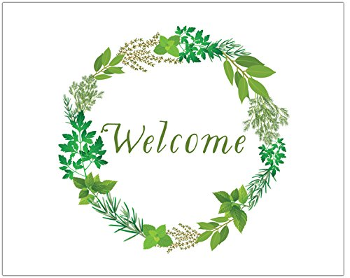 Herb Garden Welcome Wreath Print 8 x 10