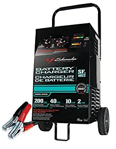 Schumacher Battery Charger Manual >> Amazon.com: Schumacher SF-4022 6/12V Manual Wheel Battery Charger with Engine Start: Automotive