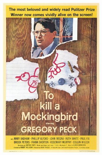 To Kill a Mockingbird Poster Gregory Peck Brock Peters Phillip Alford