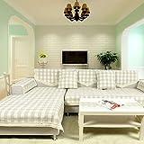 WWQY Country Plaid Fabric Sofa Towel Cotton/Linen Four Seasons Sofa Cover , 90150cm