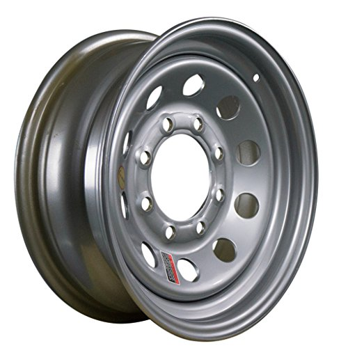Arcwheel Silver Modular Steel Trailer Wheel – 16″ x 6″ Rim – 8 on 6.5 3,750lb Capacity