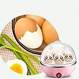 Egg Boiler Rapid Egg Cooker with 7 Egg Easy Skinning NLEADER (pink)