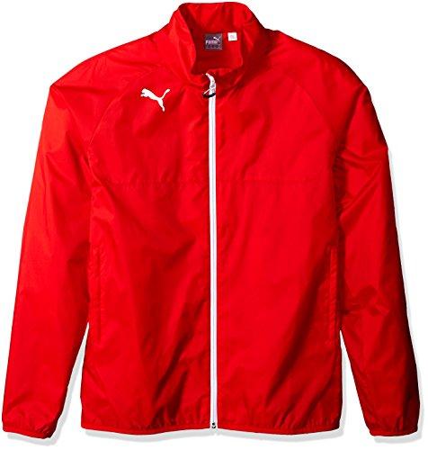 Puma Men's Rain Jacket, Large, Puma Red-White