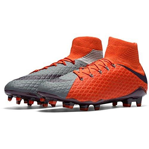 Nike Wmns Hypervenom Phatal 3 Df Fg 881546-058 Grå / Lilla Kvinners Fotball Cleats