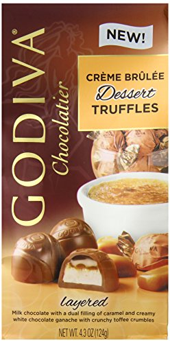 [Godiva Chocolate Truffle Milk Brulee, 4.3 Ounce] (Belgium Chocolate Favors)