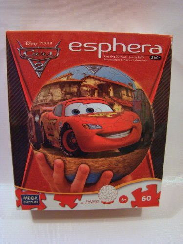 Disney Plastic Ball (Disney Cars 2 Esphera 3D 60 Piece Plastic Puzzle Ball: Topolino's)