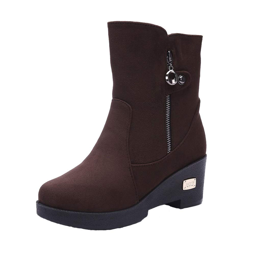 Clearance for Shoes,AIMTOPPY Women's Boots Breathable Plus Cotton Side Zipper Warm Snow Boots