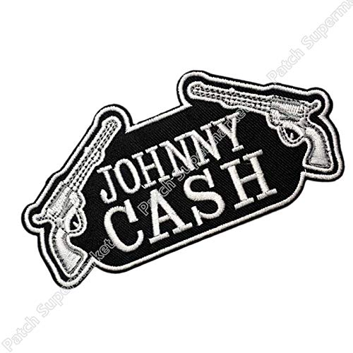 Johnny Cash Country Music Iron On/Sew on Patch Patchwork Needlework Sewing Tshirt Transfer Motif Applique Sewing Embroidery Rock Punk Badge Emblem - Johnny Cash Patches