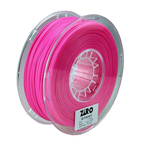 ZIRO 3D Printer Filament PLA 1.75 1KG(2.2lbs), Dimensional Accuracy +/- 0.05mm, Rose