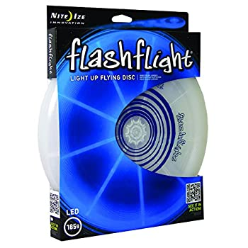Nite Ize Flashflight Led Light Up Flying Disc, Glow In The Dark For Night Games, 185g, Blue 0