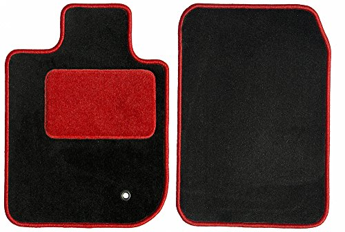GG Bailey D51363-F1A-BLK_BR Front Set Custom Car Mat, Black (For Select Chevrolet Camaro Models (Carpet, Red HP, Red Serging)) (Chevrolet Camaro Carpet)
