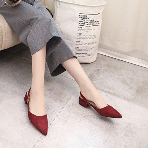 Mikimo Strappy tacco femminile piatto scarpe donne scarpe tip sandali toed scarpe casual signora Pxq6CPO
