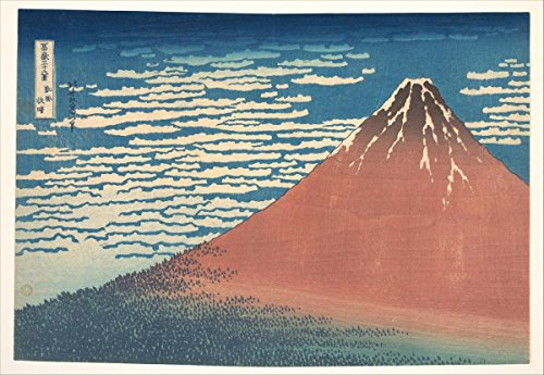 - Historic Pictoric Fine Art Print | South Wind, Clear Sky | Artist: Katsushika Hokusai | Created: Circa 1830 1 | Vintage Wall Art | 24in x 16in