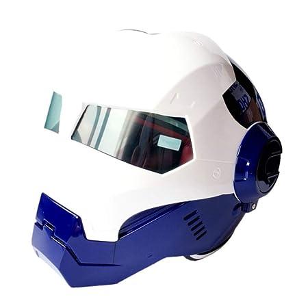 57 58cm shuhong Casco De Moto Casco Iron Man Moto Medio