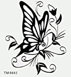 GGSELL KING HORSE New design small size 3.54 x 2.76 Inches black butterfly temporary tattoo stickers by King Horse