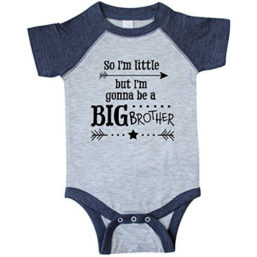 inktastic - So I'm Infant Creeper 18 Months Vintage Heather and Navy 2df4f (Big Baby Onesie Brother)