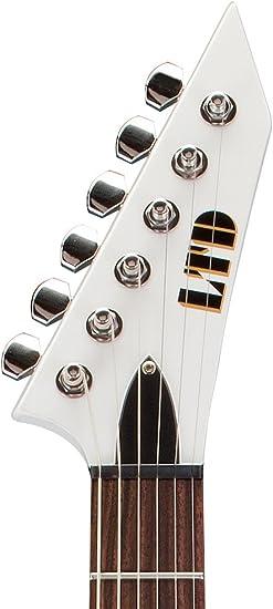 LTD V-50 SW de la guitarra eléctrica blanca como la nieve: Amazon ...