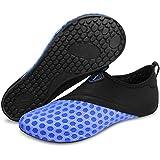 Barerun Unisex Barefoot Skin Shoes Flexibler Socks for Yoga Exercise Gym, Outdoor Walk Beach Water Sport Blue 6.5-7.5 B(M) US