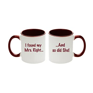 I found My Mrs. Right... And so did She! Unique Gift Mugs for Lesbian Couples (Set of 2pcs)