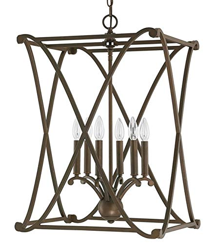 Scroll Candle Lantern - Class X Scroll Lantern Pendant Openwork Frame Living Room Dining Room Foyer Lantern Lamp