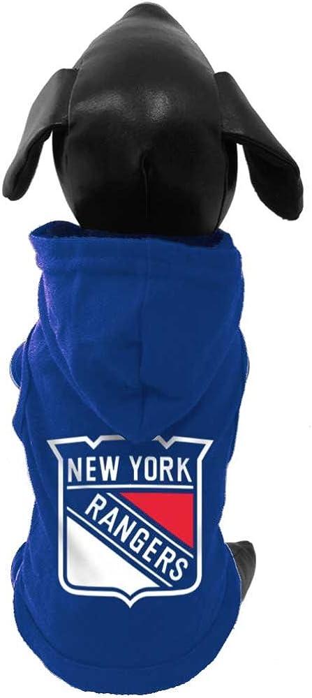 All Star Dogs NHL Unisex NHL New York Rangers Cotton Hooded Dog Shirt