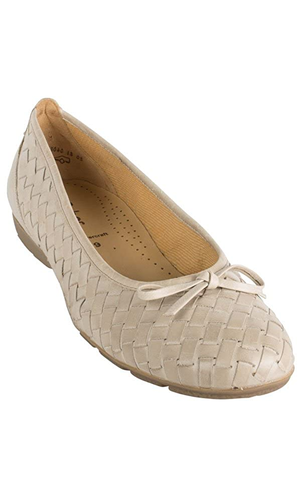 f3b924f91a1a Unbekannt Ballerina Beige Gabor Größe 44  Amazon.de  Schuhe   Handtaschen