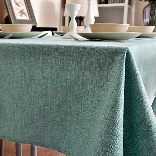 Djyyh 無地のコットンとリネンのテーブルクロス長方形/正方形の家庭用テーブルマット(5サイズ、2色) (Color : Gray, Size : 140×160cm) 140×160cm Gray B07SWJVPG7