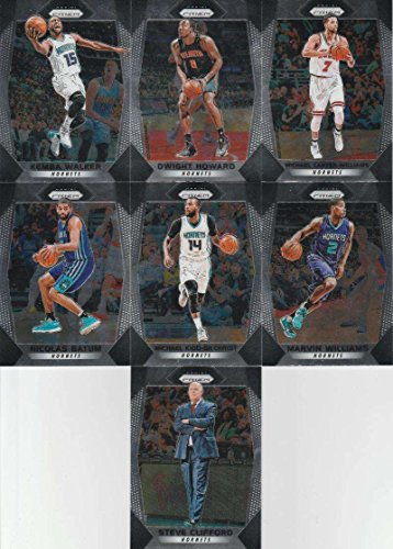 2017-18 Panini Prizm Basketball Complete Charlotte Hornets Team Set of 10 Cards in a 4-Pocket Display Notebook which includes: Kemba Walker(#231), Dwight Howard(#232), Malik Monk(#233), Dwayne Bacon(#234), Michael Carter-Williams(#235), Nicolas Batum(#236), Michael Kidd-Gilchrist(#237), Marvin Williams(#238), Treveon Graham(#239), Steve Clifford(#240)