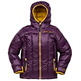 Big Agnes Kid's Insulated Ice House Hoodie, Purple/Gold, Medium