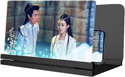 OFFA Lupa para Móvil Amplificador Móvil Pantalla De Proyección Lupa, 3D HD Amplificador Pantalla Movil, del Soporte For Todos Smartphone (Color : Black, Size : 12 Inches): Amazon.es: Hogar
