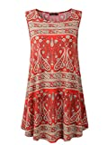 Veranee Women's Sleeveless Swing Tunic Summer Floral Flare Tank Top X-Large 6-22