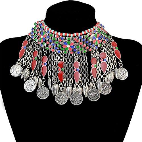 Bohemian Jewelry Tassels Pendants Necklace