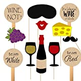 wine themed plates - Wine Tasting Party Props for Photobooth Cheese Grapes Paddles for Wine Themed Party Photos