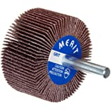Merit High Performance Mandrel Mounted Mini Grind-O-Flex Abrasive Flap Wheel, Round Shank, Ceramic Aluminum Oxide