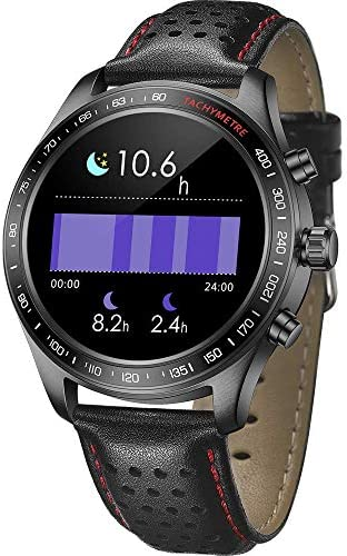 Smart Watch for Men Smartwatch with Heart Rate Monitor / Activity Tracker / Sleep Monitor / Bluetooth Music Control Weather Call/SMS Reminder IP68 Waterproof Fitness Sports Pedometer Watch for Android & iOS (BLACK) 51wrL8 8 hL