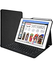 """ProCase Keyboard Case for iPad Pro 12.9"""" 2017/2015 Old Model with Built-in Apple Pencil Holder, Slim Lightweight Cover Folio Stand Smart Cover with Keyboard for Apple iPad Pro 12.9 inch -Black"""