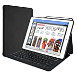 ProCase iPad Pro 12.9'' Keyboard Case with Built-in Apple Pencil Holder, Lightweight Folio Stand Protective Smart Book Cover with Wireless Keyboard for Apple iPad Pro 12.9'' 2017/2015 –Black