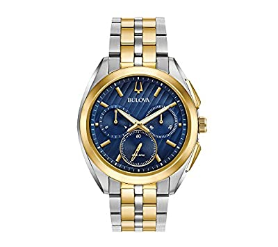 Bulova Men's Curv Collection Two Tone Watch