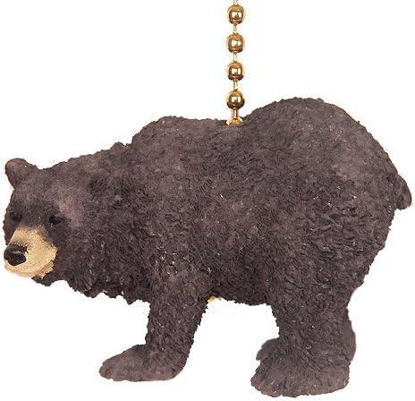 Black bear climbing ceiling fan pull chain extender lodge decor