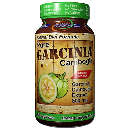 Diet System - 100% Pure Vegan Garcinia Cambogia With HCA, Extra Strength, All Natural Appetite Suppressant, Carb Blocker, Best Weight Loss Supplement, No Chemical Fillers, 60 Servings, By Fusion Diet Systems