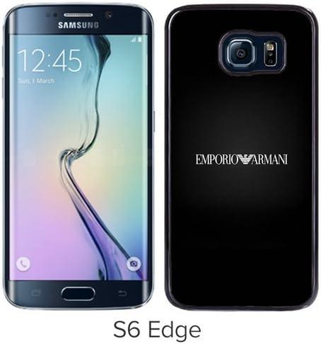 Fashion And Unique Samsung Galaxy S6 Edge Case Designed With Emporio Armani Logo Iphone 5 Wallpaper Black Samsung S6 Edge Cover Amazon Ca Cell Phones Accessories