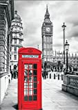 Poster London Big Ben Telefonzelle, 84x59 Kunstdruck von mldigitaldesign